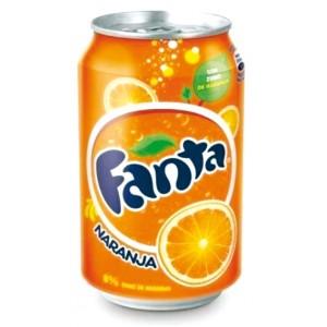 Fanta de naranja (lata 33 cl)